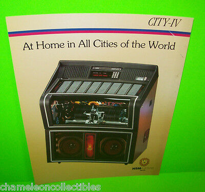CITY IV By NSM LIONS 1987 ORIGINAL JUKEBOX PHONOGRAPH MUSIC PROMO SALES FLYER