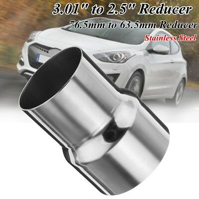 3'' to 2.5'' Stainless Steel Standard Exhaust Reducer Connector Pipe Adapte Tube