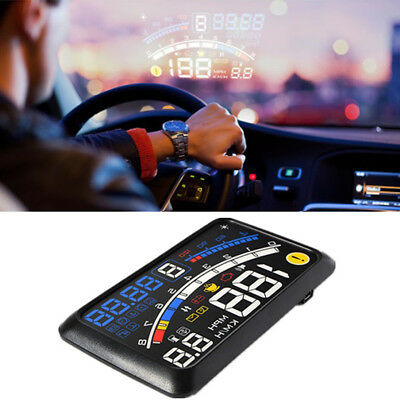 "5.5"" Universal OBD2 Auto GPS HUD Head Up Display Geschwindigkeit Alarm System E2"
