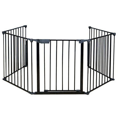 "25"" x30"" Baby Safety Hearth Gate Steel Fire Gate Fireplace Pet Dog Cat Fence"