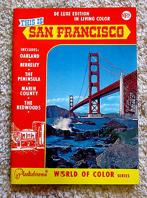 1970s This is San Francisco Vacation Book Visitor Guide Plastichrome meac5