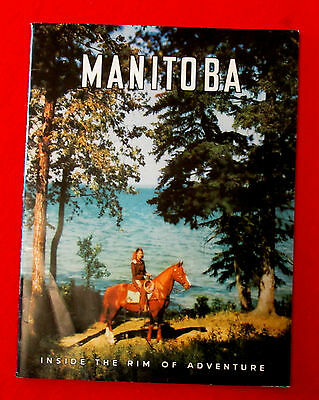 1940s / 1950s vintage Manitoba Vacation Booklet Inside the Rim of Adventure mebc