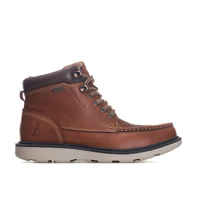 Mens Rockport Boat Builders Moc Toe Boots Brown-Lace Fastening-Slip - Resistant