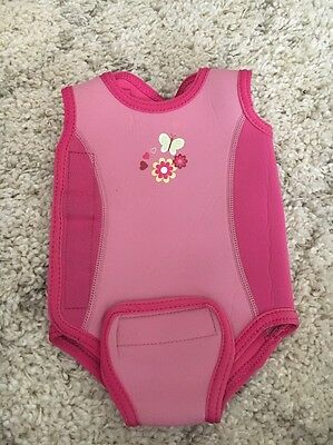 Mothercare Pink Baby Wet Suit Warm Suit Age 3-6 Months