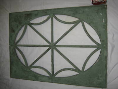 Antique Primitive Stained Glass Wood Frame Spider Window Mirror Table Top Home
