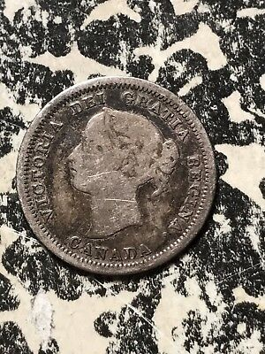 1858 Canada 5 Cents Lot#X038 Silver!