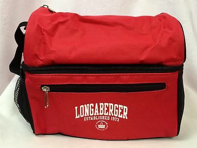 Longaberger Red Insulated Lunch Tote