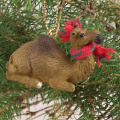 CAMEL Dromedary with Scarf Tiny One Miniature Christmas ORNAMENT