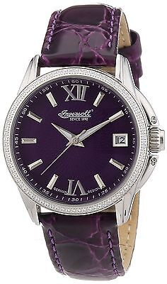 NEW Ingersoll IN8006PU Women's Watch Purple Leather Band Analog Date Automatic