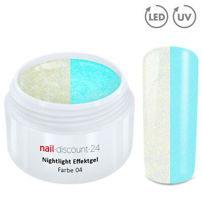 UV Gel NACHTLEUCHTEND 5ml Farbe 04 Night Light Glow Effekt Nails Color Modellage