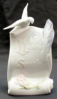 "Lladro Spanish Porcelain Ltd E. Standing Plaque no 7677 ""Art Brings Us Together"""