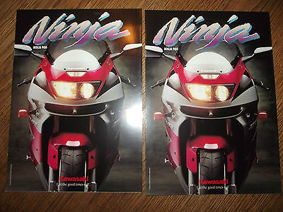 Lot 2 Catalogues  Kawasaki  900  Ninja Zx 9 R 1994.