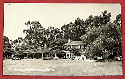 Will Rogers ranch Home California postcard c
