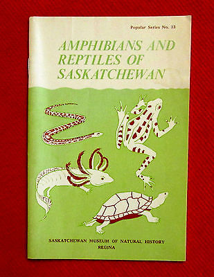 Saskatchewan Amphibians and Reptiles 1977 Booklet Snakes Turtles Frogs wolc3