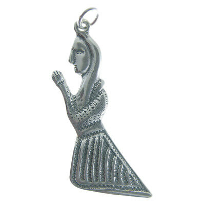 Solid sterling silver PRAYING WOMAN MILAGRO charm (M-142)