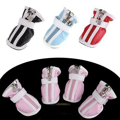 New Fashion PU Comfortable Boots Waterproof Shoes For Small Big Pet Dog  LS4G