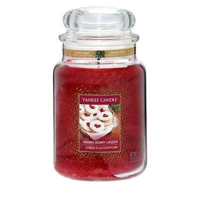 Yankee Candle Merry Berry Linzer Large Jar FREE P&P