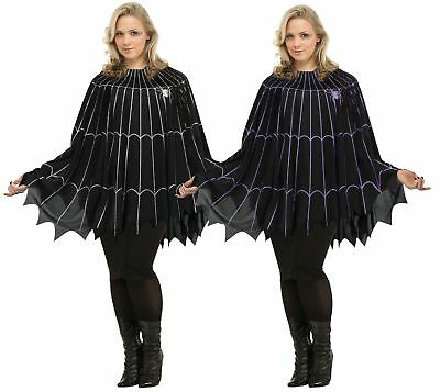 Spider Web Poncho Costume - Plus Size XL - Adult Creepy Spiderweb