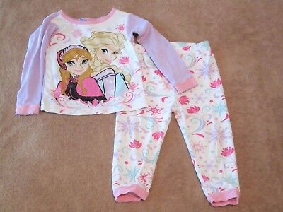 Baby Girls Disney Frozen Anna & Elsa Two-Piece Pajama Set Size 24M