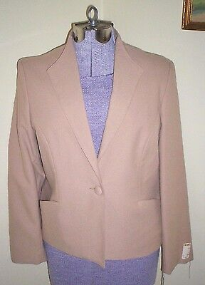 NOS Vintage 80s Women's Washable Villagio Sport Blazer Jacket Petite 13/14