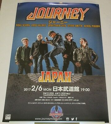 DESIGN 1! JOURNEY Japan PROMO ONLY tour POSTER 2017 NEAL SCHON - MORE LISTED!