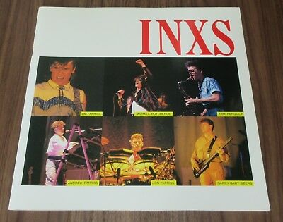 INXS rare JAPAN tour book 1984 debut concert programme MICHAEL HUTCHENCE