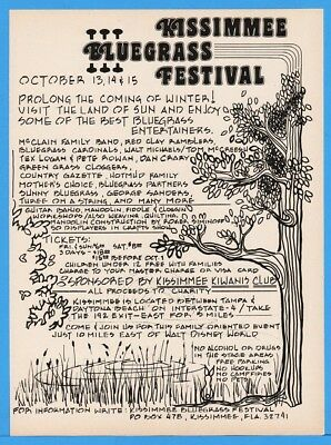 1978 Kissimmee Bluegrass Fest FL Kiwanis Cloggers McLain Fam Red Clay Others Ad