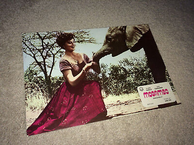 MOGAMBO Lobby Card Movie Poster 1953 Sexy Ava Gardner Jungle Adventure M7