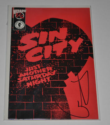 SIN CITY 1/2 JUST ANOTHER SATURDAY NIGHT Signed FRANK MILLER Autographed