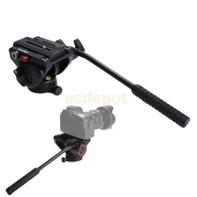 360 Degrees Smooth Rotation Hydraulic Damping Head with QR Plate for Tripod