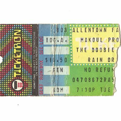 DOOBIE BROTHERS Concert Ticket Stub ALLENTOWN FAIRGROUNDS 8/3/82 FAREWELL TOUR