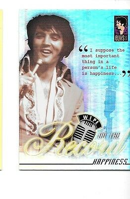 2007 Press Pass Elvis Is On The Record Happiness #9