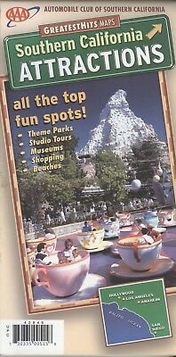 AAA Map & Guide GreatestHits: So California Attractions - laminated - Disneyland