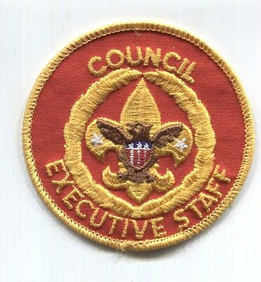 BSA position patch: COUNCIL EXECUTIVE STAFF - paper backing