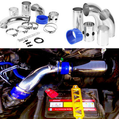 7.6CM UNIVERSAL CAR PERFORMANCE COLD AIR FILTER INDUCTION INTAKE PIPE HOSE Kit