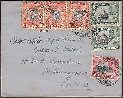 Kenya 1938 Cover To Iraq Franked With Kut 6 V Stamps Via Baghdad Rare