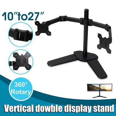 Dual HD LED Desk Mount Monitor Arm Stand Display Bracket Holder LCD Screen TV