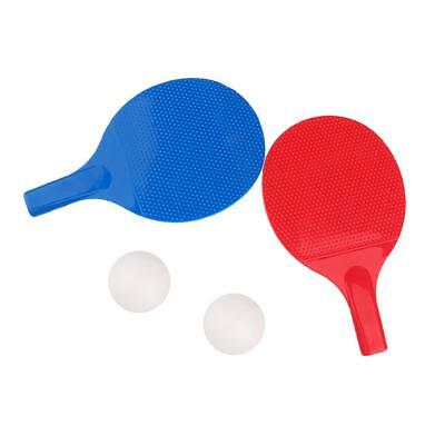 Table Tennis Plastic Paddle with Balls Rackets Bat Tennis Accessories