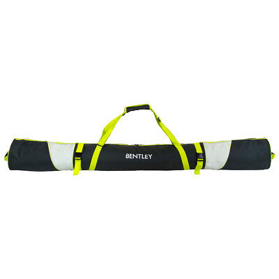 Charles Bentley Padded 185cm Ski Bag For One Pair of Skis Lime Green