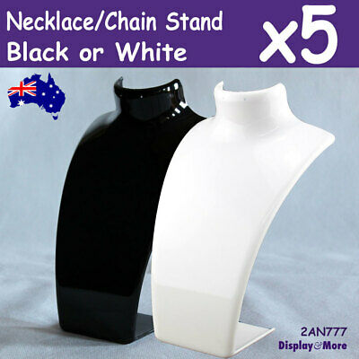 NECKLACE Holder Stand Stackable | 5pcs | ACRYLIC Black or White | AUSSIE Seller