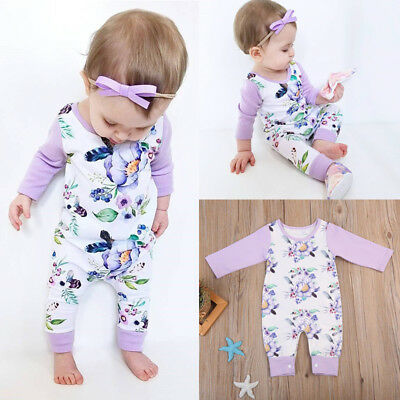 Infant Baby Boy Girl Long Sleeve Cotton Romper Jumpsuit Bodysuit Clothes Outfits