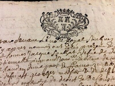 Antique Marriage  Contract 1722