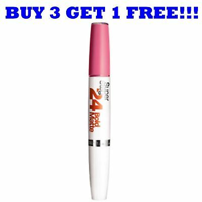 Maybelline Lipgloss Superstay 24H Bold Matte Peach Cocktail 810
