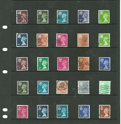 GB regional mix definitive used stamps after 1970