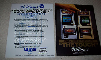 Williams Midas Touch Slot Machine Flyers Brochures 1991
