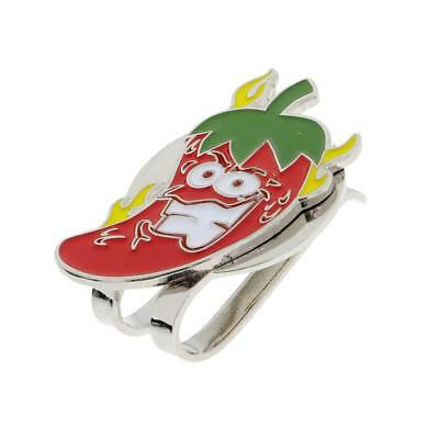 Sturdy Cartoon Chilli Magnetic Hat Clip Golf Ball Marker Clip On Cap Visor