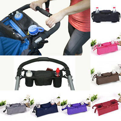 Baby Pushchair Pram Organiser Stroller useful Buggy Storage Bag Bottle Holder 1p