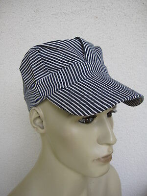 Hickory Stripe Slugger Cap Spitfire Hot Rod Rockabilly Railroad Vintage Nose Art