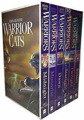 Erin Hunter Warrior Cats  Warriors The New Prophecy 6 Books Collection Pack Set