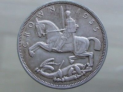 """1935 George V """"Rocking Horse"""" Silver Crown - Lovely Coin - FREE POSTAGE (J136)"""
